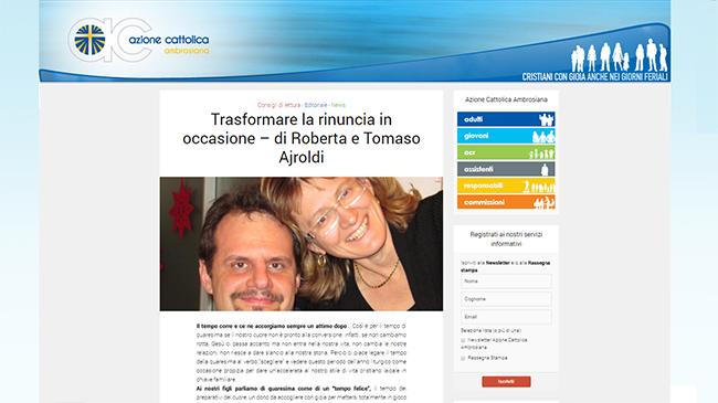 Trasformare la rinuncia in occasione – di Roberta e Tomaso Ajroldi