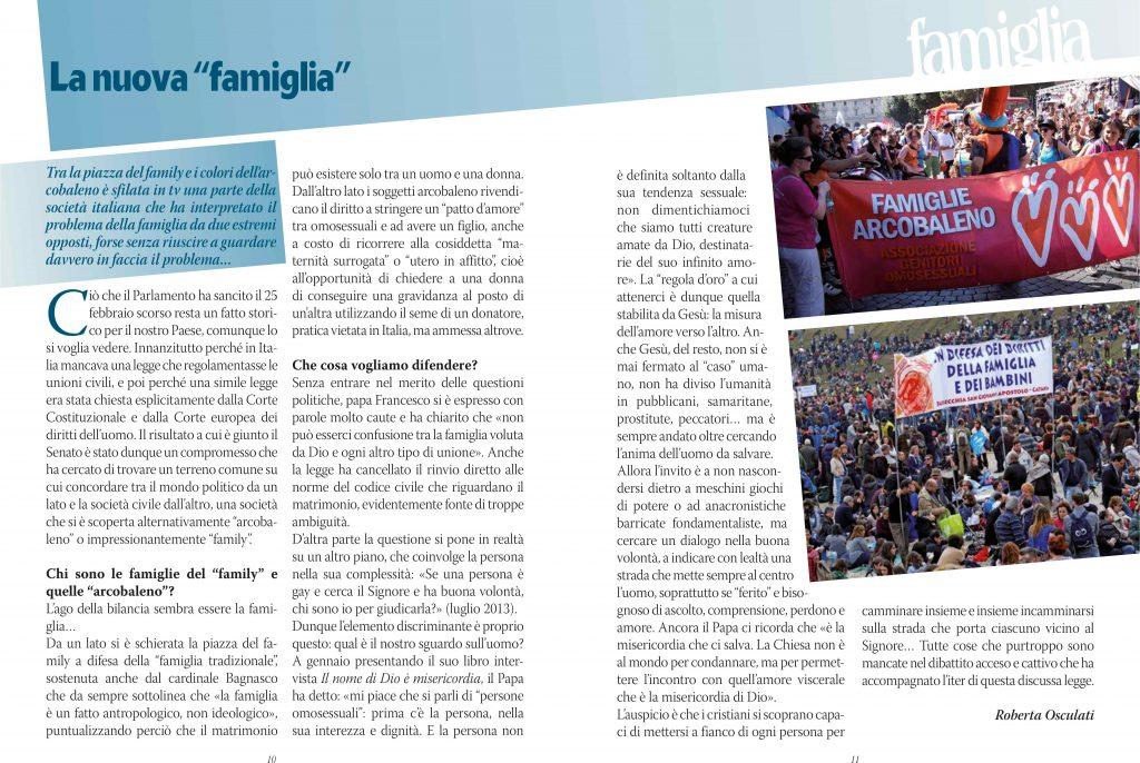 """La nuova """"famiglia"""" - tratto dalla rivista """"Sempre in dialogo"""", n. 2/2016 - Roberta Osculati"""
